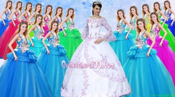 Beautiful Long Sleeves Off the Shoulder Taffeta White Quinceanera Dress