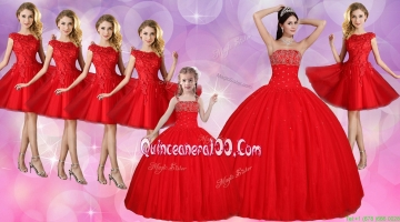 Discount Beaded Bust Quinceanera Dress and Lovely Straps Mini Quinceanera Dress and Beautiful Cap Sleeves Dama Dresses