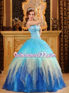 Most Popular Multi-color Sweetheart 2014 Quinceanera Dresses with Beading