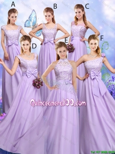 Cheap Popular Laced and Bowknot Dama Dresses with Empire