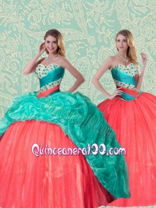 Beautiful Detachable Sweetheart Quinceanera Dress With Beading and Ruffles