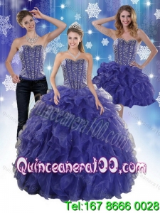 2015 The Super Hot Beading and Ruffles Spring Quinceanera Dresses in Royal Bule