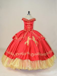 Sleeveless Embroidery Lace Up Vestidos de Quinceanera