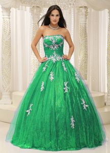 Tulle Overlay Dress For Quinceaneras with Appliques Paillette Skirt
