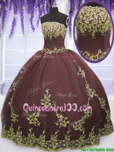 Dynamic Spring and Summer and Fall and Winter Tulle Sleeveless Floor Length Sweet 16 Dress andLace and Appliques