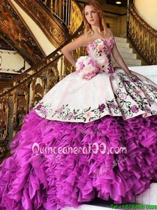 Attractive Floor Length Pink And White Quinceanera Dresses Sweetheart Sleeveless Lace Up